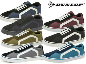 Mens-Canvas-Trainers-Dunlop-Lace-Up-Pumps-Casual-Plimsolls-Fashion-Skater-Shoes