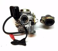 20mm Roketa 50cc 50 Carburetor & Intake Manifold Boot Scooter Moped Carb