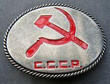 Russia USSR Russian Soviet Union Communist CCCP Flag Belt Buckle Boucle Ceinture