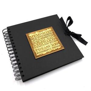 Raised-Words-Memories-Book-Black-Scrapbook-Photo-Album-BLSCR-2