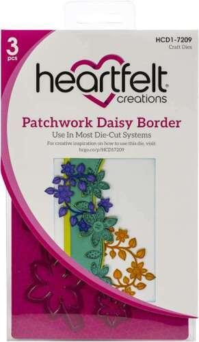 Heartfelt Creations Cut /& Emboss Dies Patchwork Daisy Border 817550022457