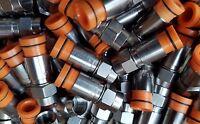 Lot 20 Belden Rg59 Compression Coax Connectors Cable Orange Thomas Sns1p59 Catv