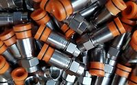 25 Belden Rg59 Compression Coax Connectors Cable Orange Thomas Sns1p59 Catv Lot