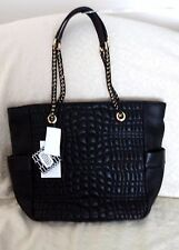 AIMEE KESTENBERG Women's Black Quilted Leather Handbag Tote Shopper NWT