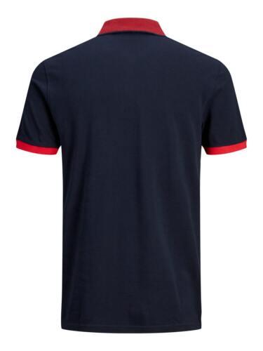 Jack /& Jones Authentic Polo T-shirt For Mens Short Sleeve Cotton Tee 7174