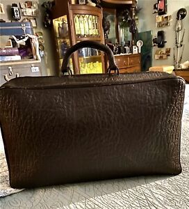 1899 Vintage/Antique Doctor BROWN Leather Medical Bag-Nice Shape For Being 122yr