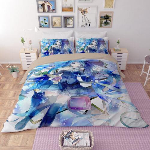 3D Anime Print Hatsune Miku Kids Bedding Set Girl Duvet Cover Quilt Cover Set