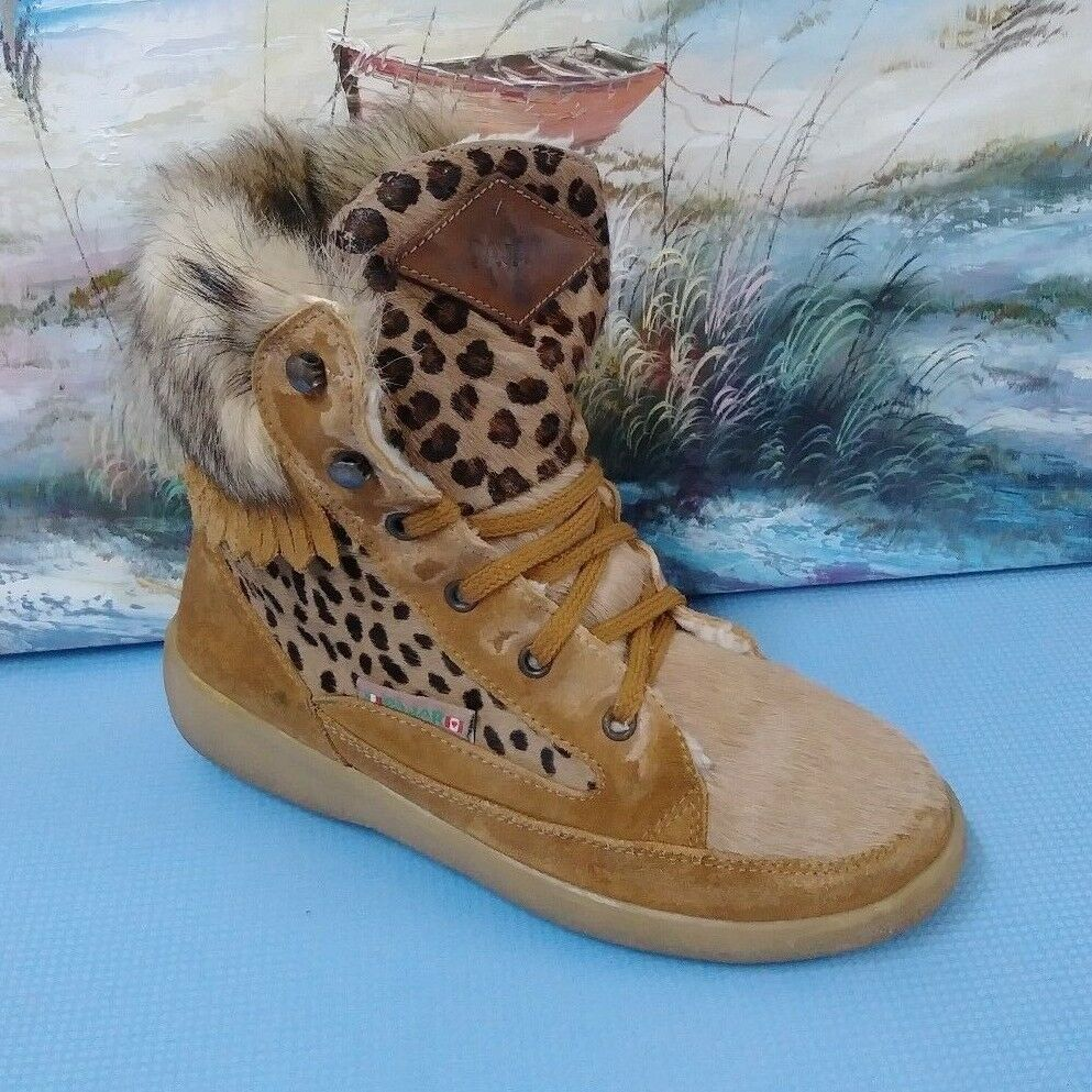Women's Pajar Brown Ankle Lace Up Winter Snow Boots US 7 7.5 NWT
