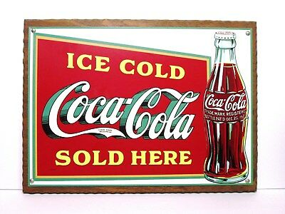 Coca Cola Sold Here 1916 steel fridge magnet de