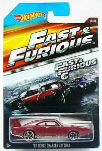 Fast-amp-Furious-1969-Dodge-Charger-Daytona-Car-Hot-Wheels-Diecast-1-64-Scale