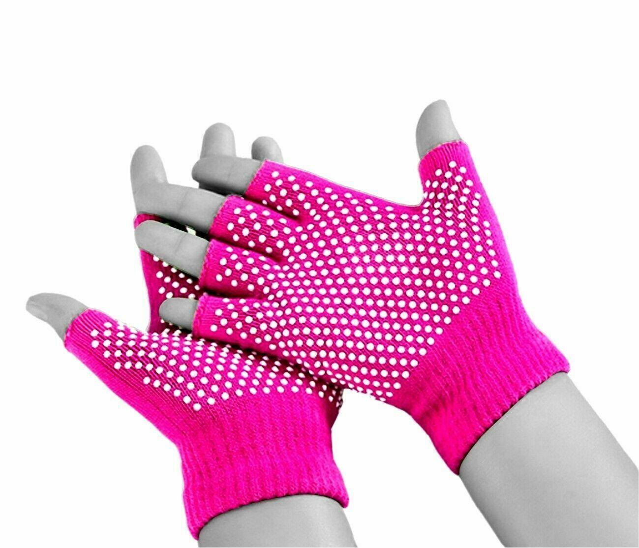Adulto Invierno Térmico Dedo Cortado Antideslizante Guantes de Pesca de trabajo de agarre mujeres Stretch