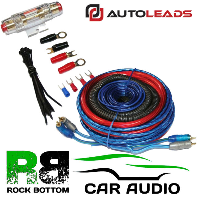 Autoleads 60 Amp 500 Watt Complete CCA Amplifier Wiring Kit Subwoofer on amp install kit, amp connectors, pt cruiser car kit, amp cable, amp wire kit, amp installation kit, car amp kit,