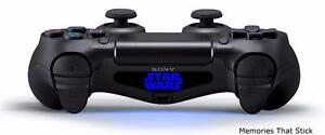 2 x STAR WARS PS4 Playstation Controller Light Bar Novelty Vinyl Decal Stickers