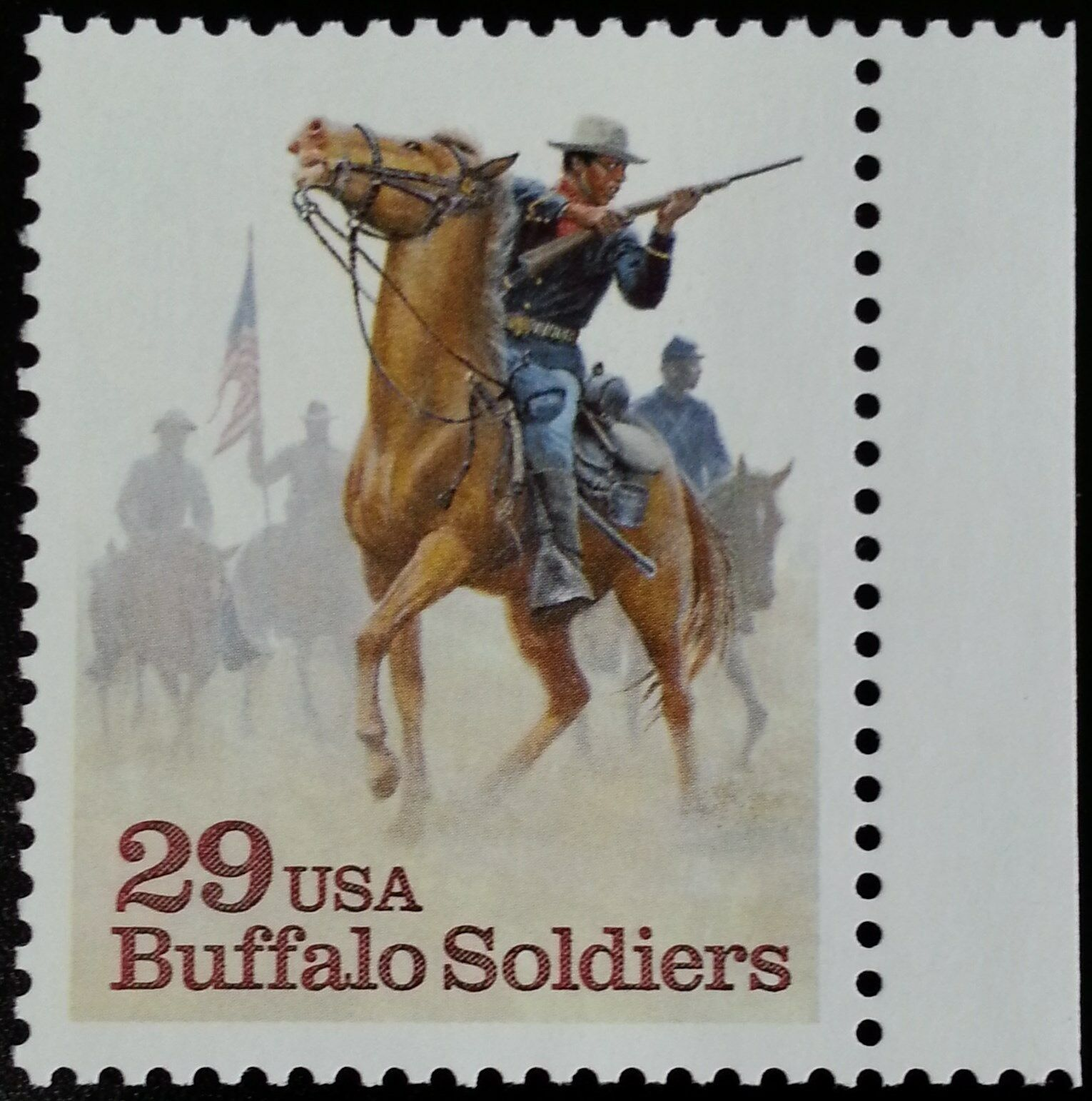1994 29c Buffalo Soldiers, United States Army Scott 281