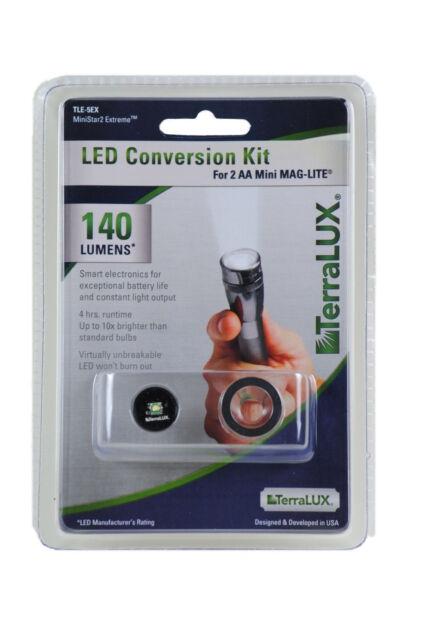 TERRALUX TLE5EX LED UPGRADE BULB for AA Mini MAG LITE FLASHLIGHT 150 LUMEN NEW