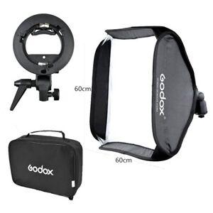 DE-Godox-60x60cm-Faltbar-Softbox-Bowens-Blitz-Schirmhalter-fuer-Aufsteckblitz