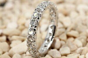 Memory-Ring-750-Diamant-18K-Weissgold-20-Brillanten-1-63ct-VS1-SI2-I-Groesse-53