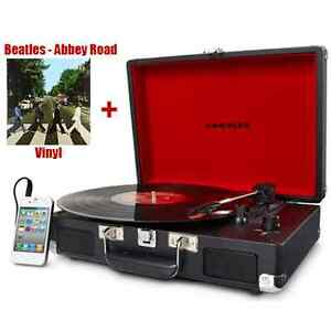 Crosley Portable Turntable Beatles Vinyl Record Player