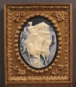 PICTURE  FRAME  ~ Vintage Cameo ~  Jim Coates ~ Dollhouse Miniature ~ 1:12 scale