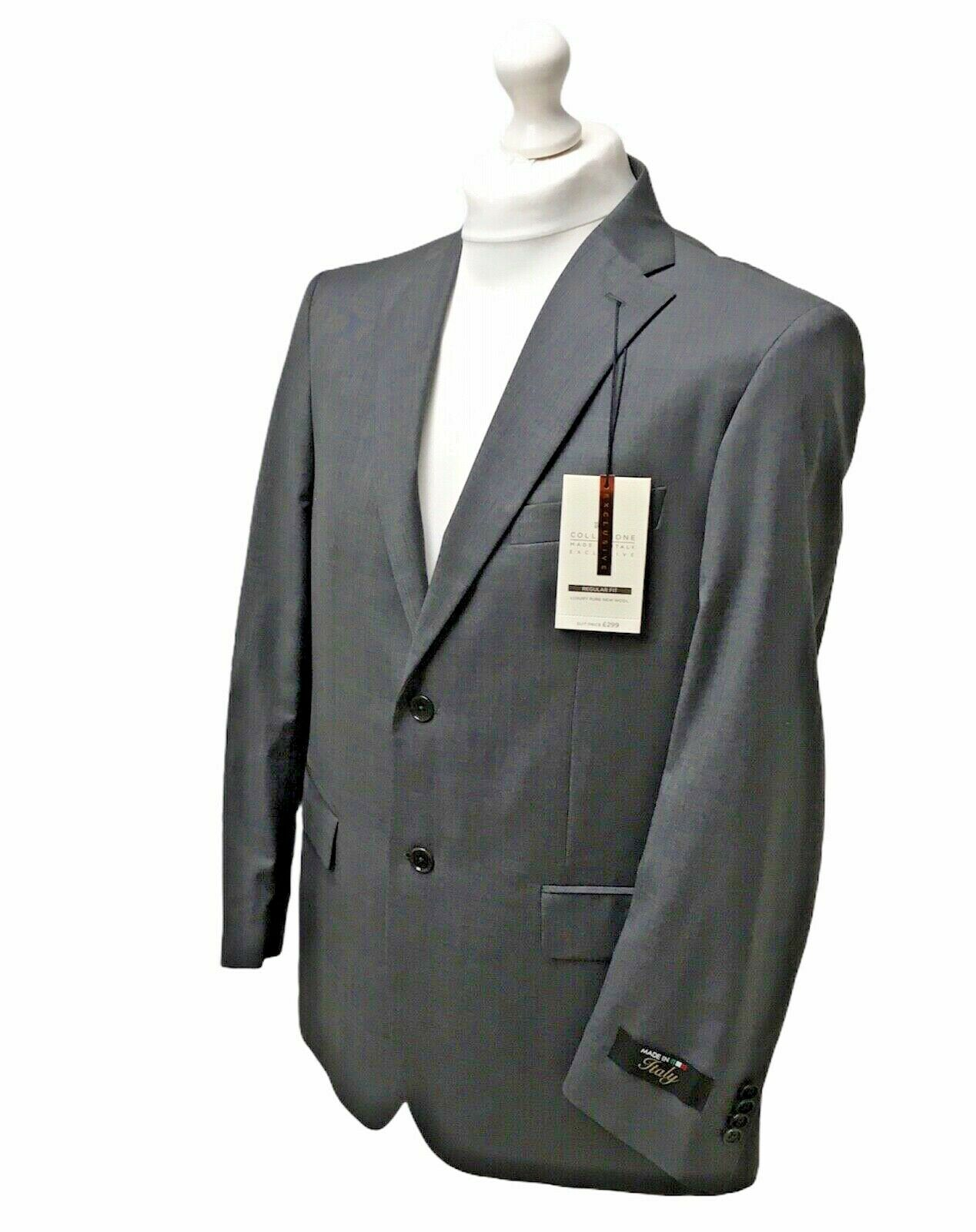 M&S Collezione Zignone Italy New Wool Mens Blazer Jacket Size UK L 44 RRP
