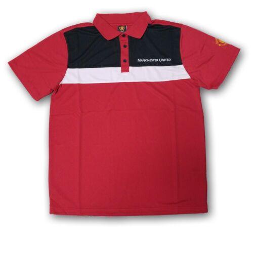 Manchester United Men/'s Polo Shirt Red//White//Black NWT By Rhinox