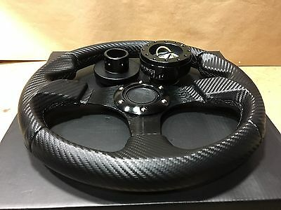 For Polaris RZR Steering Wheel Hub Black Quick Disconnect Release Black