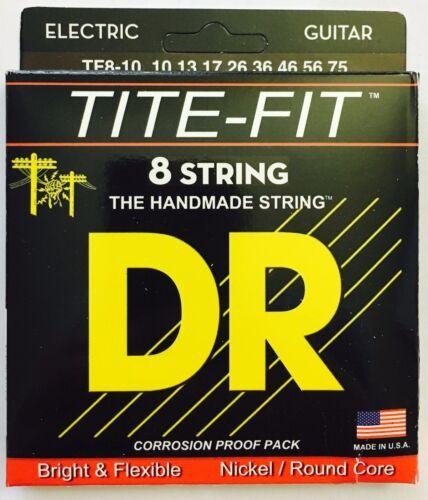 DR Tite Fit TF8-10 Electric Guitar Strings 8-String set gauges 10-75