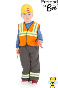 Image is loading KIDS-BOYS-CHILDRENS-BUILDER-CONSTRUCTION-WORKER-COSTUME -OUTFIT-  sc 1 st  eBay & KIDS BOYS CHILDRENS BUILDER CONSTRUCTION WORKER COSTUME OUTFIT AND ...