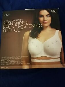 32DD MARKS /& SPENCERS WHITE  FULL CUP MAXIMUM SUPPORT UNDERWIRED  BRA   NEW