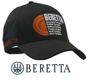 Beretta-Diskgraphic-Baseball-Cap-Black-Clay-Shooting-Hat-BT071-Targets-Logo