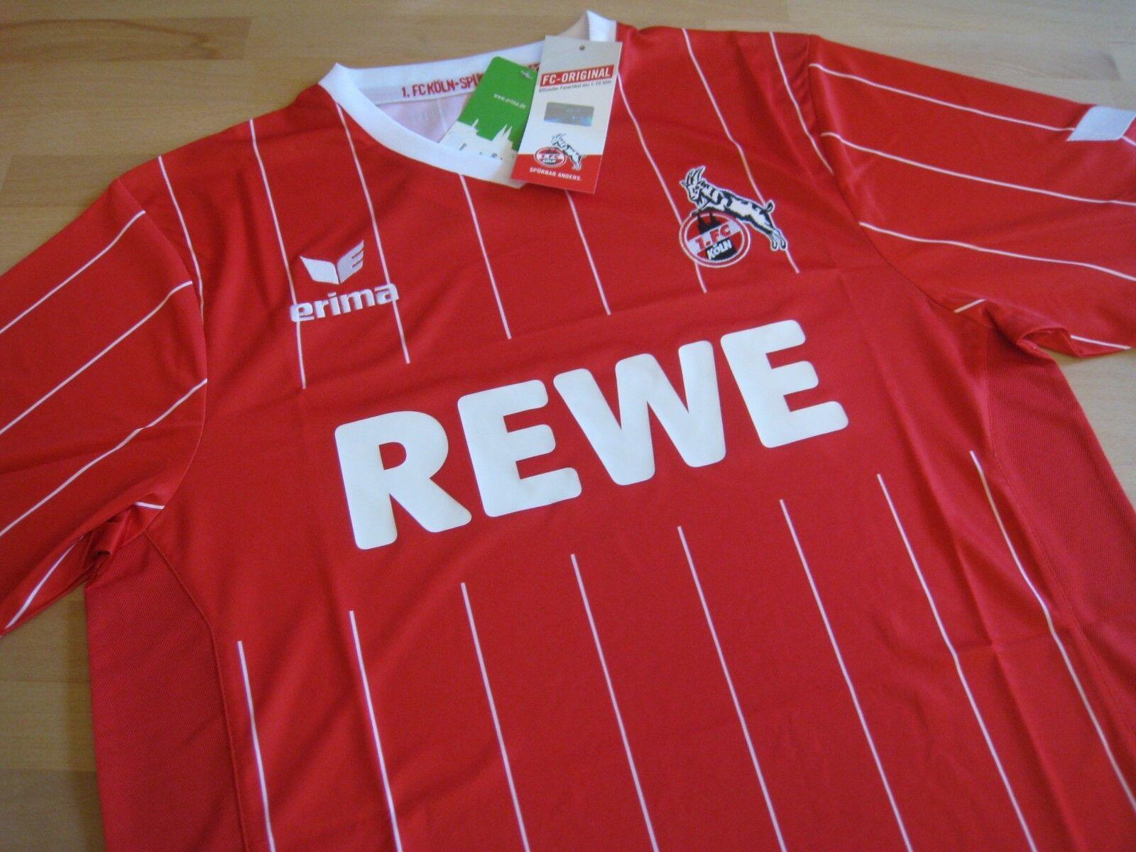 Orig. 1.FC Köln Europa League Trikot Erima Gr. 5XL rot-weiß REWE Sammlung