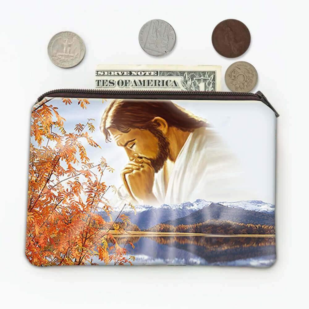 Jesus Praying : Catholic Coin Purse Religious Our Father Gift Christmas