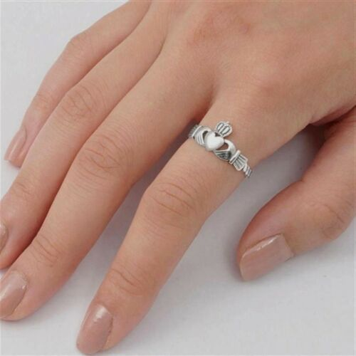 USA vendeur Crown Claddagh ring sterling silver 925 BEST DEAL bijoux Taille 8