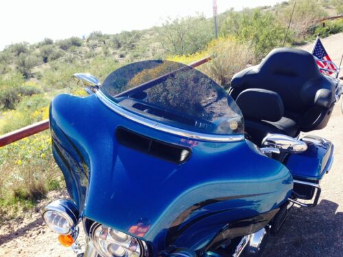 Touring // Bagger 8 in Dark Gray Windshield Harley Windshield 2014-2020