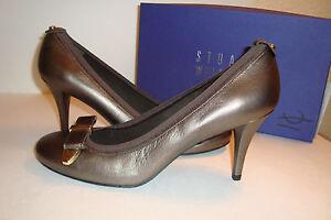 Stuart Weitzman Womens Bwana Sepia Mordore Bronze Heels Shoes 10.5 Med Display