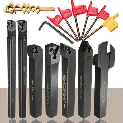 Metalworking Metal Lathe Tools Set Tooling Tool Boring Bar Holder Parts New UK