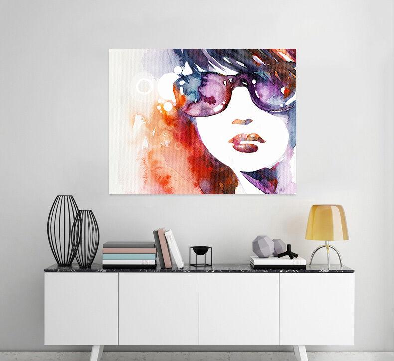 3D Mode Sonnenbrillen Mädchen 9 Fototapeten Wandbild BildTapete AJSTORE DE Lemon