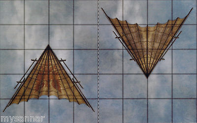 V11 Dungeons /& Dragons GLIDERS Gamemastery Pathfinder D/&D Token Vehicle Tiles