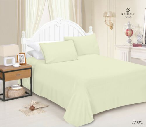 Plain Dyed Flat Sheet Polycotton Bed Linen Or Pillow Case Single Double King