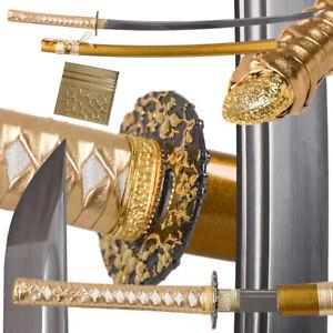 Japanese Saber Samurai Sword Katana 1060 High Carbon Steel Full Tang antique