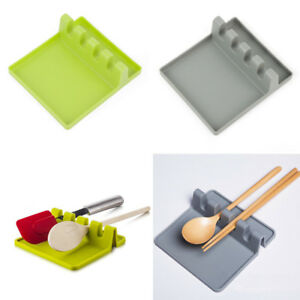 Spatula-Spoon-Rest-Heat-Resistant-Silicone-Holder-Non-Stick-Kitchen-Cooking-Tool