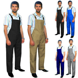 Mens-Bib-amp-Brace-Dungarees-Trousers-Overalls-Working-Work-wear-Painters-Engineer