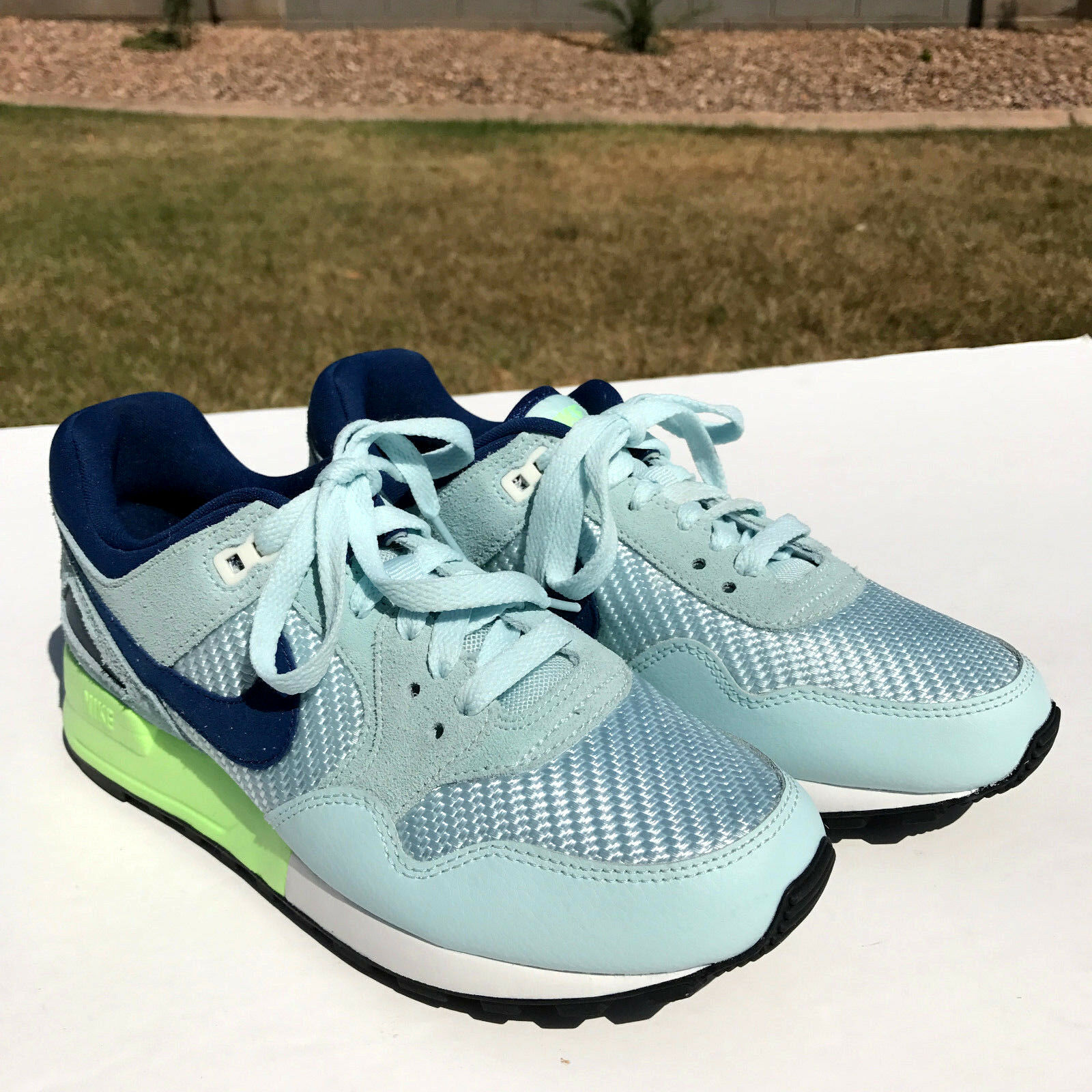Nike Air Pegasus 89 Running Shoes Womens 6.5 Glacier Blue/Wh/Nvy 844888 400 NEW