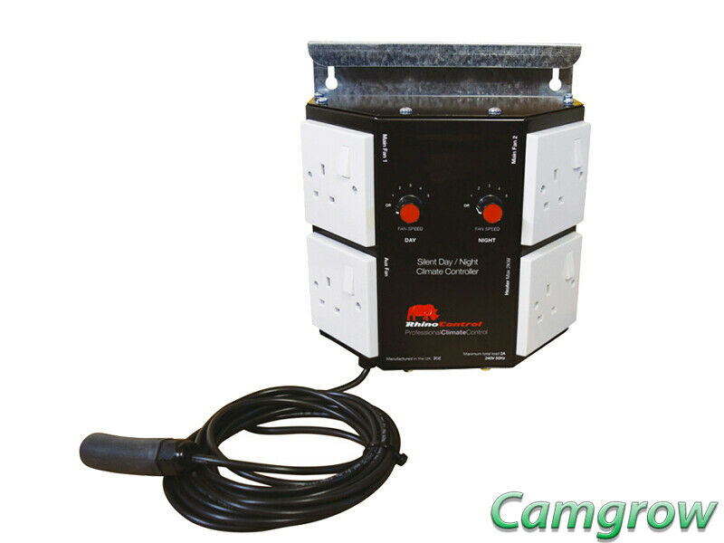 Rhino - Silent Day Night Fan Controller 2A Grow Room Temperature Control