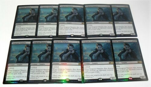 MAGIC THE GATHERING CCG FOIL CARD VENGEANT VAMPIRE LOT OF 10 CARDS