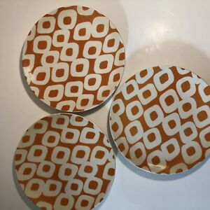 Pottery-Barn-Graphic-Harvest-Orange-And-White-8-1-2-Inch-Round-Plate-Set-Of-3