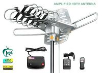 Attic Outdoor Antenna Long Range Outdoor Digital Hdtv Amplified Antenna Remote