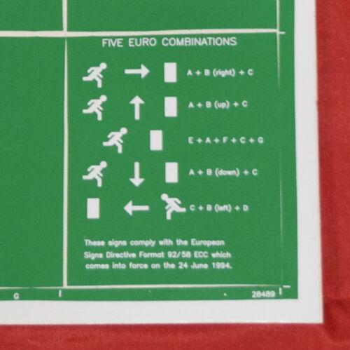 c2 Ruta de escape escudo salida de incendios-cubrir película adhesiva autoadhesivas