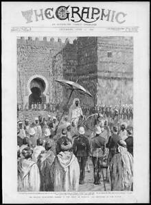 1892  Antique Print  AFRICA Morocco Charles EuanSmith Sultan Court   162 - KENT, United Kingdom - 1892  Antique Print  AFRICA Morocco Charles EuanSmith Sultan Court   162 - KENT, United Kingdom