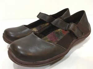 B-rn-Women-039-s-Brown-Leather-Mary-Janes-Shoes-Size-8-M
